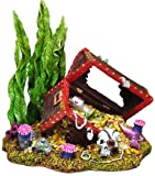 Exotic Environments Sunken Treasure Chest Aquarium Ornament, Small,...