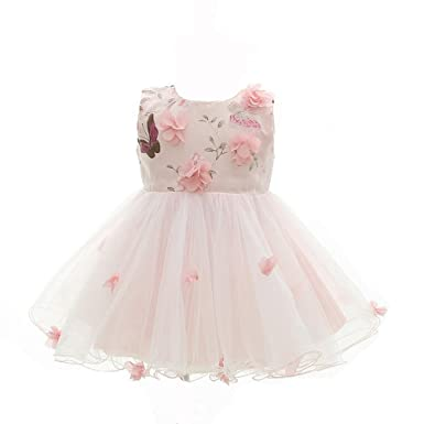 Amazon moon kitty baby girls pink flower dresses special moon kitty baby girls pink flower dresses special occasions butterfly petals dress for baby girl pink mightylinksfo