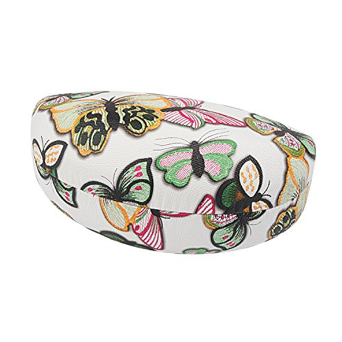 Eyeglass Case Butterflies (Molshine Hard Shell Sunglasses Case,Classic Extra Large Case for Oversized Sunglasses and Eyeglasses (Butterfly white))