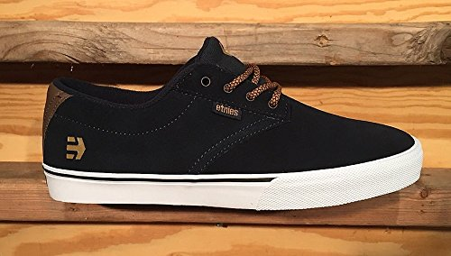 Etnies Mens Men's JAMESON VULC Shoe, navy/brown/white, 9.5 Medium US