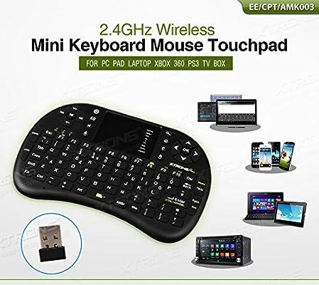 Xtrons - Mini teclado inalámbrico de 2,4 GHz para portátil, PC, Pad, Smart TV, PS3, XBOX360, Google TV Box: Amazon.es: Electrónica
