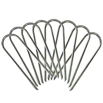 Eurmax Trampolines Stakes Wind Stake 0.35 Inch Heavy Duty Stake Safety Ground Anchor Galvanized Steel Wind Stakes, 8pcs-Pack : Sports & Outdoors