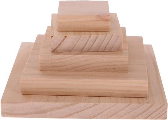 5pcs / Set Caja de Almacenamiento Joyería Organizador Herramientas de Madera Llanas sin Pintar: Amazon.es: Joyería