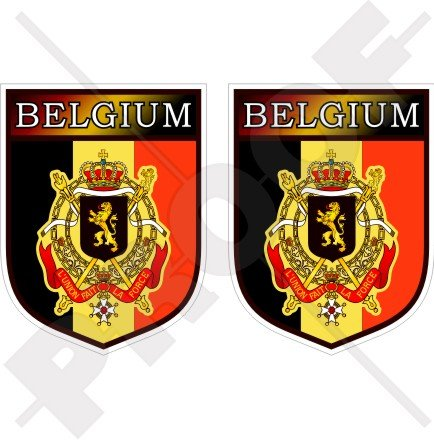 BELGIUM Belgian Belgique België Shield 75mm (3