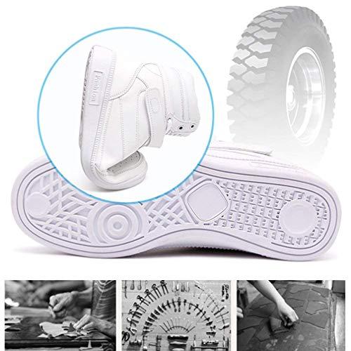 Donna Traspirante Rotonda top Scarpe Velcro Casual Stringate Da High 35 Tinta Con Unita Zeppa Sportive Slittata Bianca 40 Corsa Sneakers Testa qtdPwda