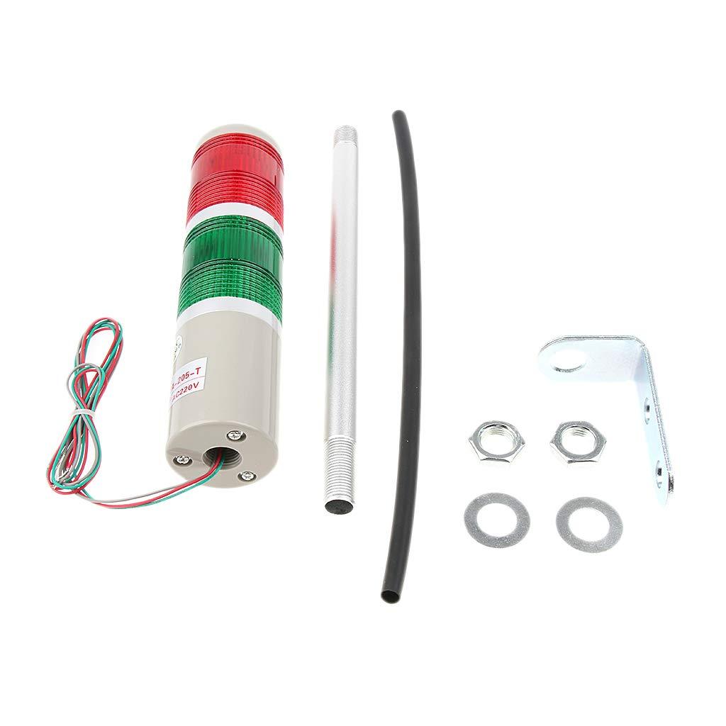 Baosity Industrial Warning Light Signal Tower Light Alarm Lamp AC220V for Workshop Port Sentry Box