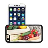 Luxlady Premium Apple iPhone 6 iPhone 6S Aluminum Backplate Bumper Snap Case IMAGE ID 21472852 Fresh vegetables in box on wooden table close up