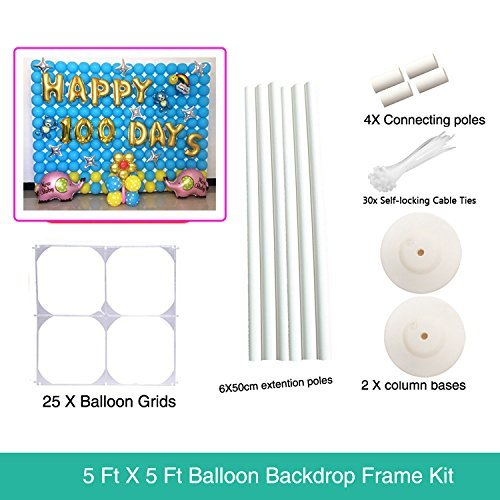 5 ft x 5 ft Balloon Grids Wall Backdrop Frame For Birthday Party - 1.5M 1.5M (Balloon Wall)