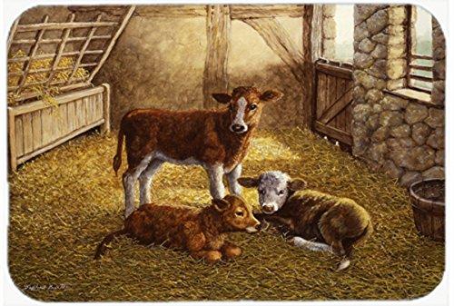 Caroline's Treasures BDBA0179JCMT'Cows Calves in the Barn' Kitchen or Bath Mat, 24' H x 36' W, Multicolor