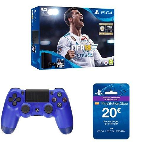 PlayStation 4 (PS4) - Consola de 1 TB + FIFA 18 + Sony ...