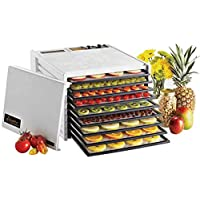 Excalibur 3926TW 9-Tray Dehydrator with Timer, White