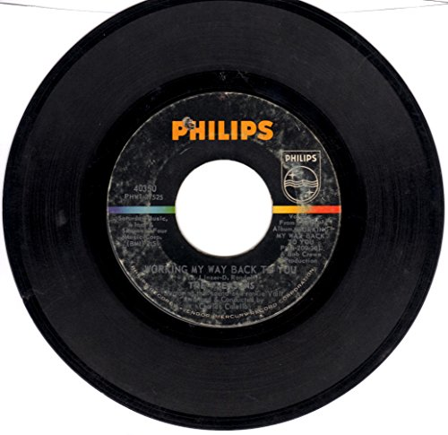 Way Records Rpm 45 (The Four Seasons: Working My Way Back to You B/w Too Many Memories)