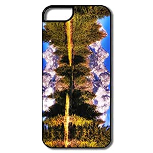 Custom Cute Plastic Case Clear Lake Dreamscape For IPhone 5/5s