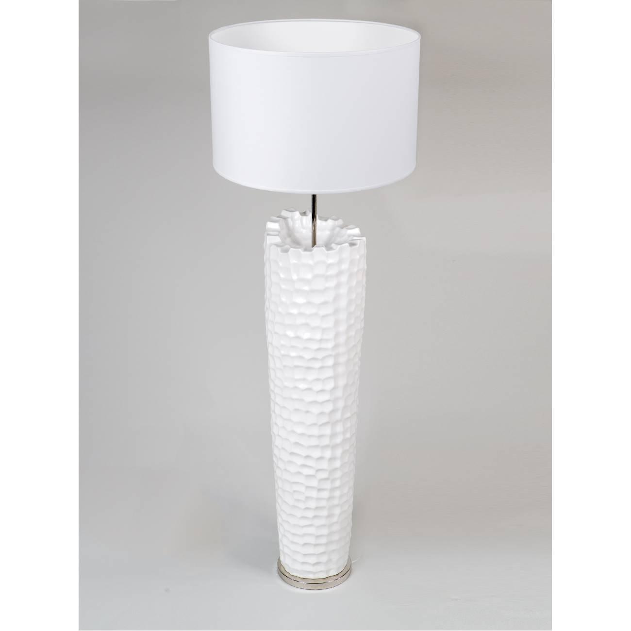Bodenlampe - Stehleuchte MURANO H. 145cm weiß Keramik Formano