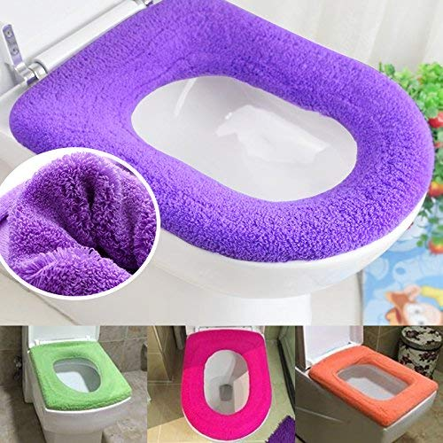 Toilet Cushion Plush Toilet Seat Square Universal Seat Ring Increase The Toilet Sleeve Waterproof Toilet Cover (Color : Seventeen)