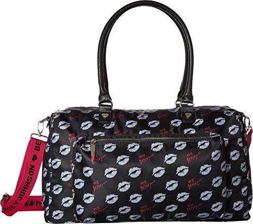 - Betsey Johnson Women's Sporty Weekender Bag Black/Multi One Size