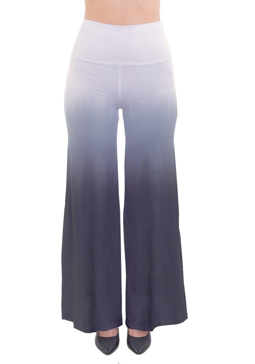 CowCow Womens Black Gradient Palazzo Pants Trouser: Amazon.co.uk: Clothing