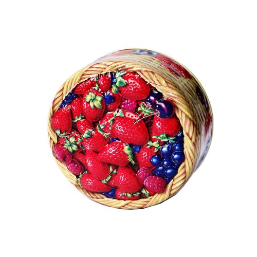 Churchill's Summer Berries Travel Tin with Fruit Bonbon sweets 125g/4.4oz. MADE IN BRITAIN (125g Tin)