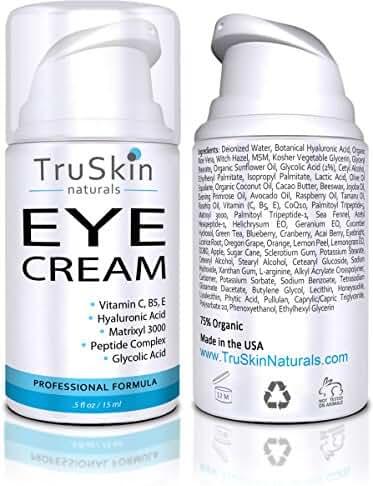 TruSkin Naturals Eye Cream - Anti-Aging Formula Hydrates, Protects & Revitalizes Delicate Skin Around Eyes - 15ml