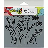 Crafters Workshop Template, 6 by 6-Inch, Wildflowers