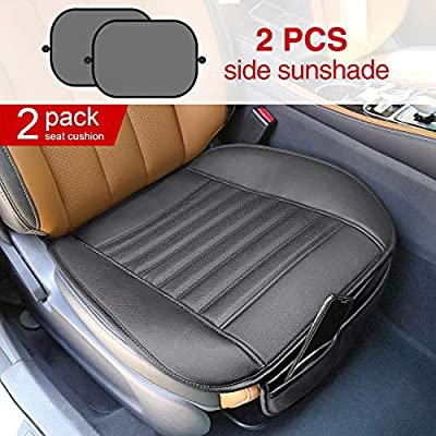 Modokit 2 Pack Car Front Seat Covers, Car Seat Protector Mat Pads Waterproof for Auto Supplies Office Chair, 2 Sun Shades for Car Window Included