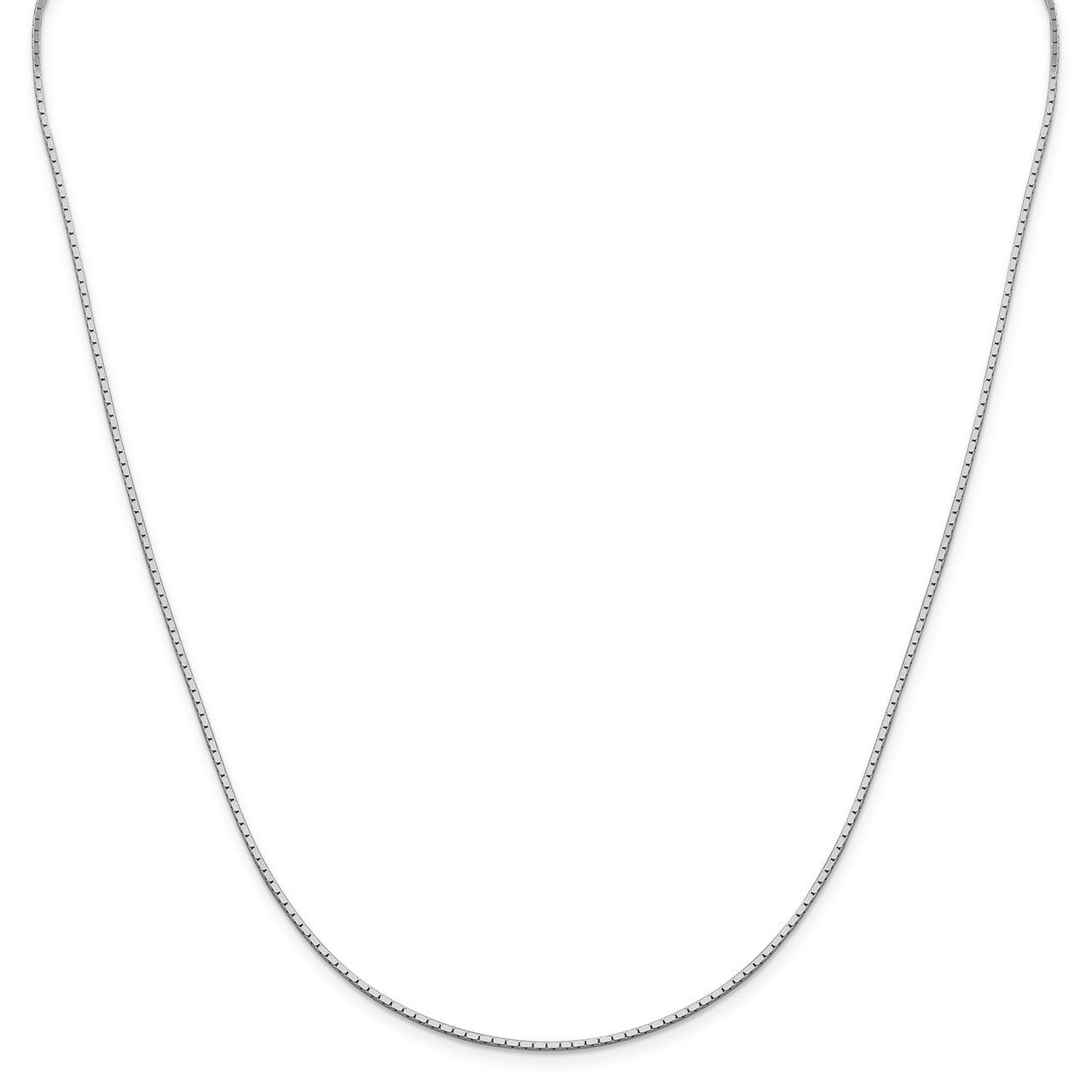 Lex /& Lu Sterling Silver 1.25mm Mirror Box Chain Necklace