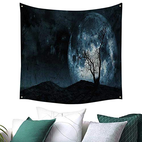 homehot Fantasy Tapestry for Living Room Night Moon