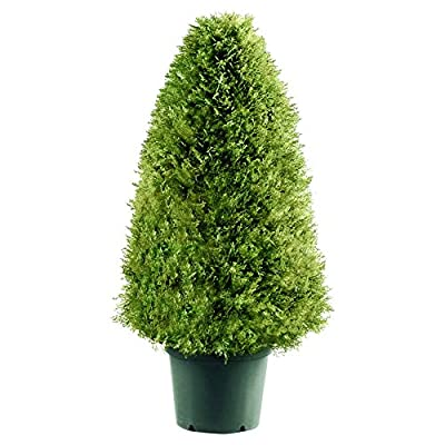 National Tree Upright Juniper Tree with Green Round Plastic Pot