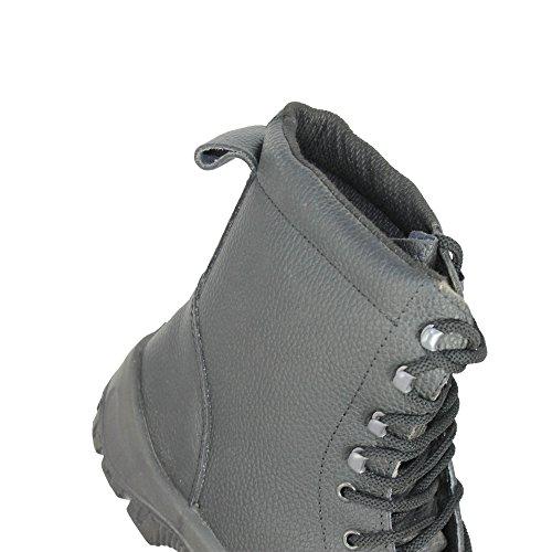 Tuskers - Calzado de protección de Piel para hombre negro negro, color negro, talla 39 EU