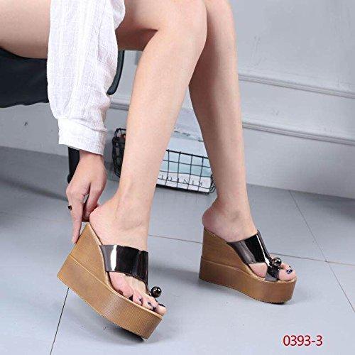 color Cool Moda grueso pendiente de Pistola con 12 fondo y XiaoGao centímetros de sandalias verano zapatillas de aFXqXS
