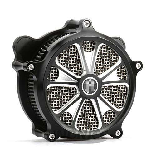 Air intake filters for harley touring street glide air filters road king air cleaner black 08-16, softail 2016-2017 air filters: