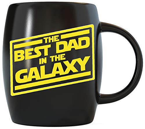 Father's Day Gifts for Best Dad In The Galaxy Novelty Drinkware Cups - For World's Greatest Papa Ever, New Father, Husband Ceramic Coffee Mug Tea Cup - For Sports Fan, Travel or Camping Loving Fathers