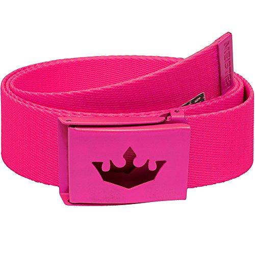 Meister Player Golf Web Belt - Adjustable & Reversible - Hot (Hot Pink Golf)
