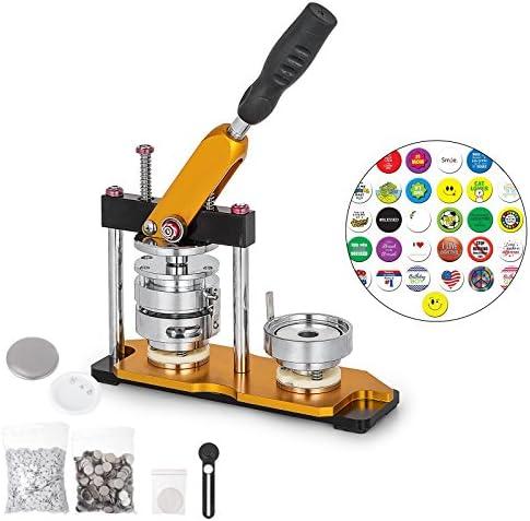BananaB 75mm DIY Badge Press Machine 100pcs Button Parts Rotate Button Maker Machine Buttonmaschine Knopfmachermaschine Badge Punch Press mit Circle Cutter