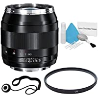 Zeiss 28mm f/2.0 Lens for Canon Digital SLR Cameras + 58mm UV Filter + Lens Cap Keeper + Deluxe Cleaning Kit DavisMAX Bundle - International Version (No Warranty)