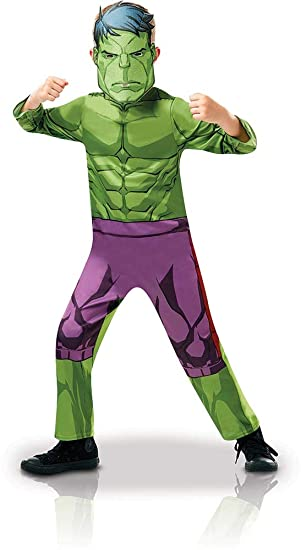 Rubies 640838S - Disfraz infantil oficial de Marvel Avengers Hulk, altura de 104 cm,