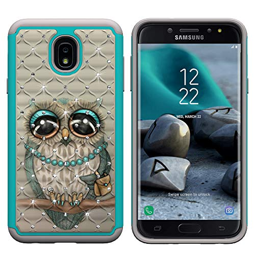 Berry Accessory Galaxy J7 2018 Case with Screen Protector,Galaxy J7 Star/J7  Aura/J7 Aero/J7 Top/J7 Crown Glitter Sparkle Bling Studded Rhinestone