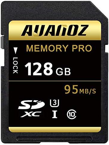 Scheda Di Memoria TF Da 128 GB,Ultra Classe 10 UHS-I Scheda Di Memoria Ad Alta Velocità Adatto Per Telecamere e Videocamere U3 Fino a 95 MB/s, 10 Classi.(Nero/Oro-128GB)