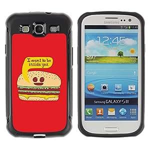 Hybrid Anti-Shock Defend Case for Samsung Galaxy S3 / Burger