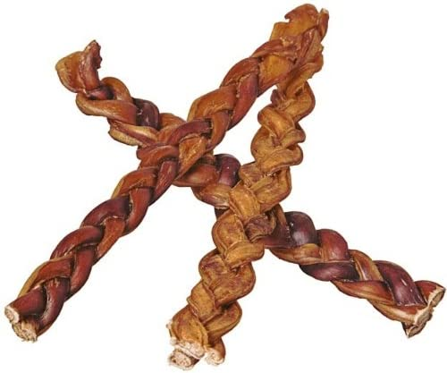 "Pawstruck 12"" Braided Bully Sticks for Dogs - Natural Bulk Dog Dental Treats & Healthy Chews, Chemical Free, 12 inch Best Low Odor Pizzle Stix"