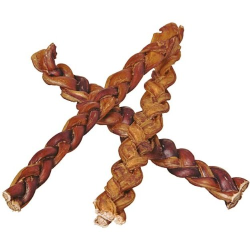 12'' Braided Bully Sticks for Dogs (25 Pack) - Natural Bulk Dog Dental Treats & Healthy Chews, Chemical Free, 12 inch Best Low Odor Pizzle Stix by Pawstruck