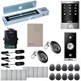 Visionis FPC-5146 One Door Access Control Out Swinging Door 600lbs Maglock with VIS-3000 Outdoor Weather Proof Keypad / Reader no software 2000 Users Wireless Receiver