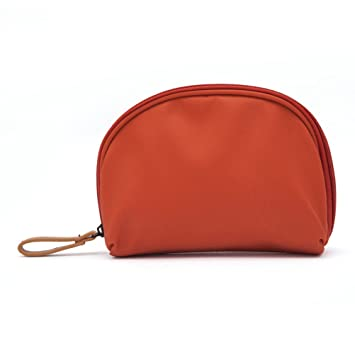 Amazon.com   Aosbos Small Cosmetic Pouch Makeup Bag Half Moon Organizer for  Purse Travel Women Girls(Orange)   Beauty f769fbd648586