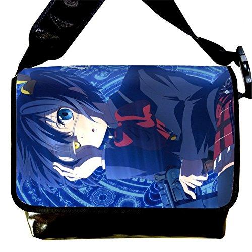 miraclel Anime Cosplay Canvas Rucksack Messenger Bag Umhängetasche schwarz Naruto 40cmx21cmx12cm Chuunibyou Demo Koi Ga Shitai