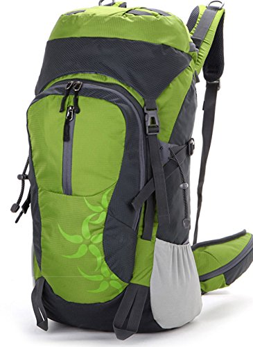 Alpinismo Al Aire Libre Mochila De Viaje 40L,Lightblue green