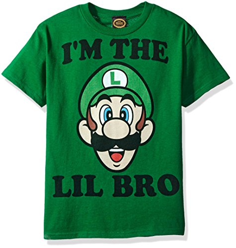 Nintendo Little Boys Lil Bro Graphic T-shirt, Kelly, YXS