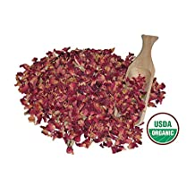 Alive Herbals Premium Food/Culinary Grade A- Dried Red Rose Buds And Petals Organic 16 OZ