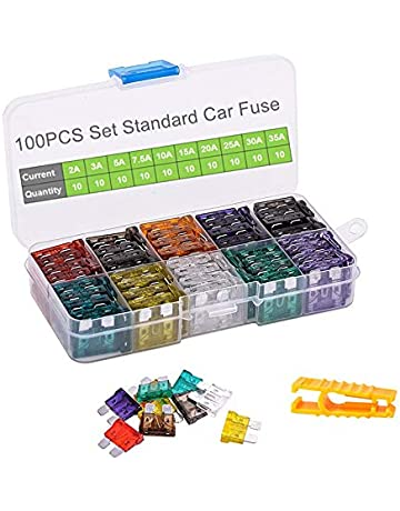 car fuses 100pcs assorted standard blade fuse set 2a 3a 5a 7 5a 10a 15a 20a