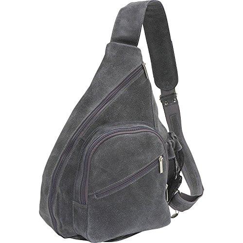 David King Leather Distressed Leather Cross Body Bag in Distressed Grey (King Distressed Leather David)