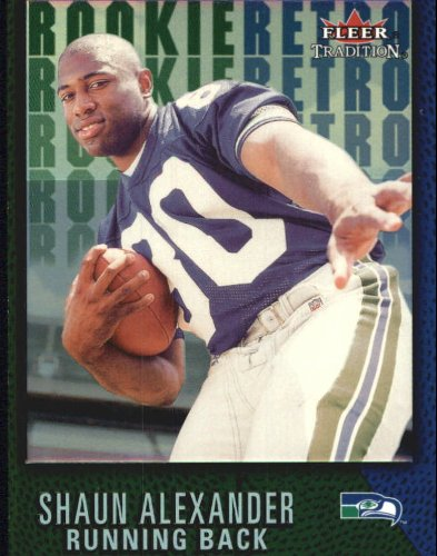 2000 Fleer Tradition Rookie Retro Football Rookie Card #10 Shaun Alexander ()